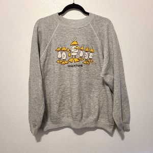 Vintage Hanes Deducktions Gray Pullover Sweatshirt